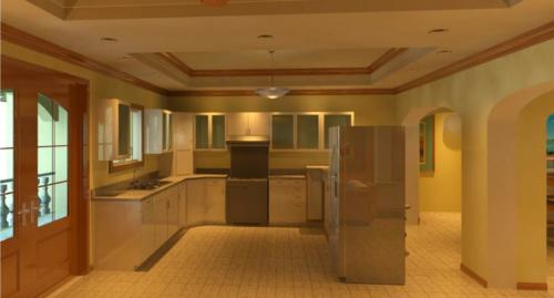 Interior View of Kitchen